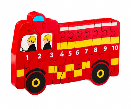 Lanka Kade Fire Engine 1-10 Wooden Puzzle
